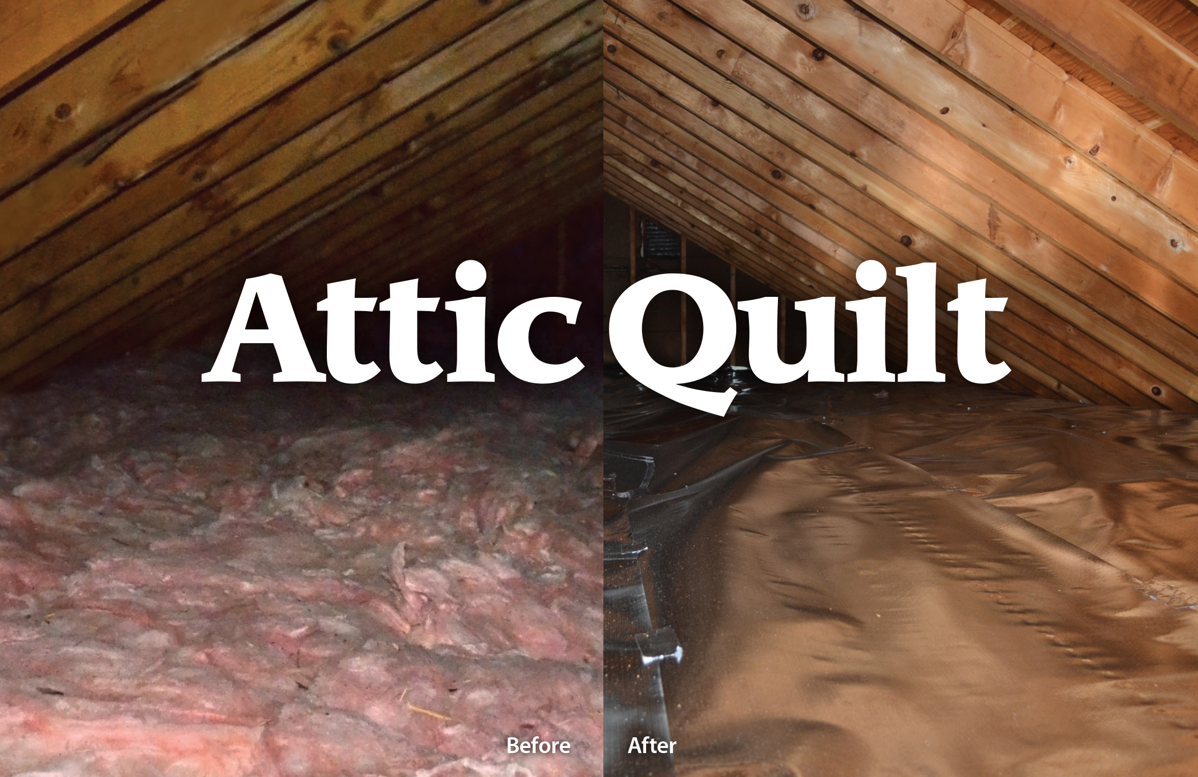 Attic Quilt before after photo