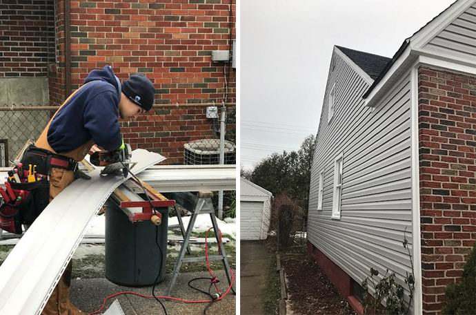 Cold weather is no match for this siding job in Kenmore.