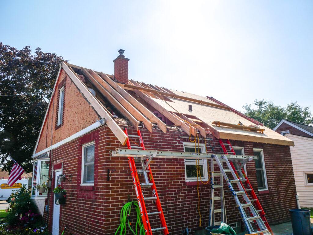 House Roof under repair